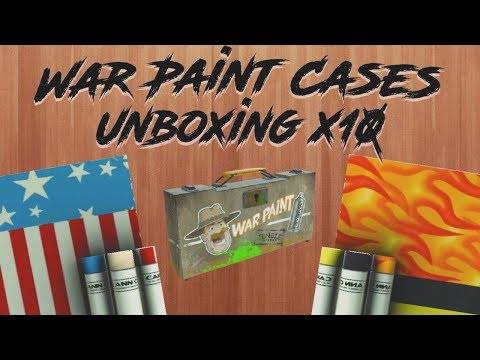 TF2: Unboxing 10 NEW Jungle Jackpot War Paint Cases! AMAZING NEW SKINS!