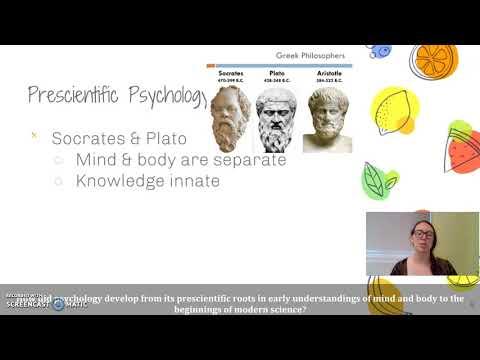 Unit 1: Psychology's Roots (Philosophy)