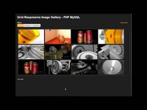 Grid Responsive Image Gallery - PHP MySQL