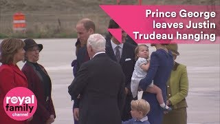 Prince George leaves Justin Trudeau hanging on Canada visit