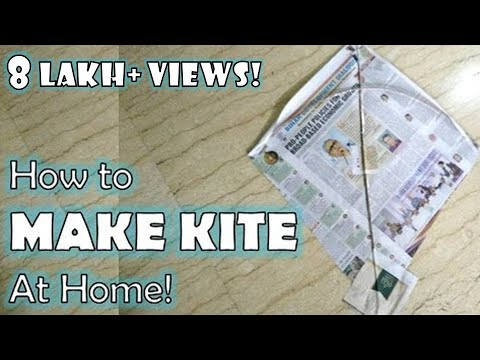 How to make Indian Kite at Home with Newspaper | Kite making for kids by Sparsh Hacks