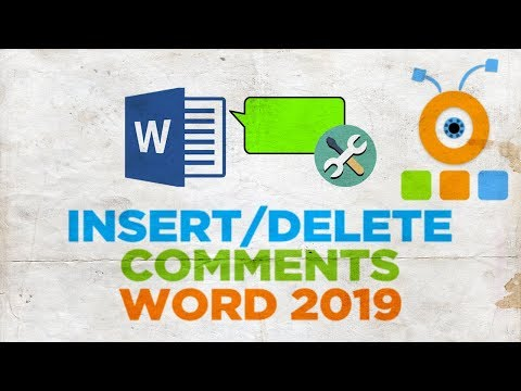 How to Insert or Delete a Comments in Word 2019   How to Add or Delete a Note in Word 2019