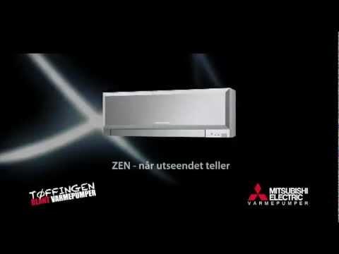 Mitsubishi Electric Varmepumpe - Design modell ZEN