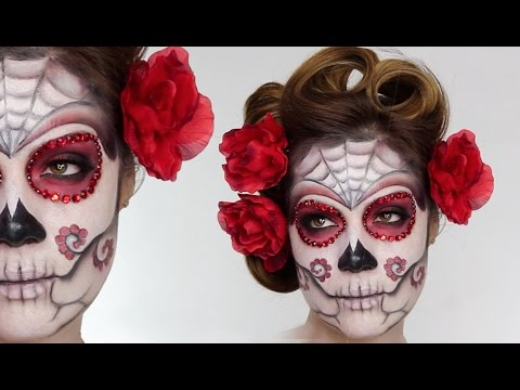 Easy Sugar Skull | Day Of The Dead MakeUp Tutorial For Halloween | Shonagh Scott | ShowMe MakeUp