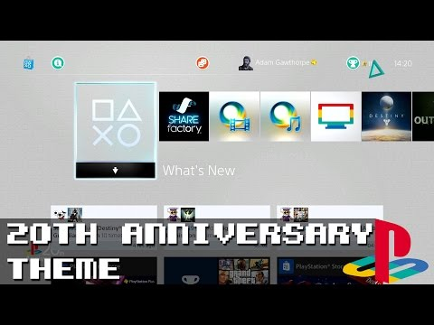 PS4 - Playstation 1 20th Anniversary Theme!
