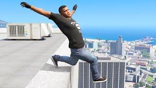 GTA 5 Jumping off Highest Buildings #11 - GTA V Funny Moments & Fails