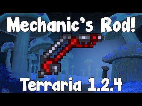 Mechanic's Rod , a Great Fishing Rod! - Terraria 1.2.4 Guide New Fishing Rod! - GullofDoom