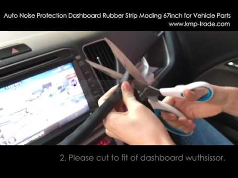 Auto Noise Protection Dashboard Rubber Strip Moding 67inch for Vehicle Parts