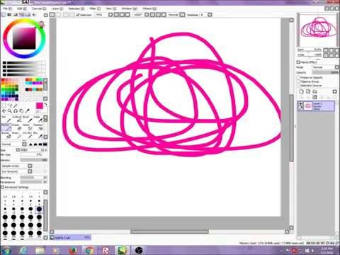 How to use paint tool sai! Part 1/Brushes,files,color wheel and more!