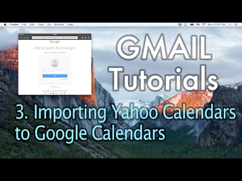 3 Importing Yahoo Calendars to Google