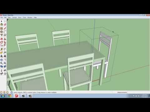 SketchUp #26 - Small House- Dining Table and Chairs - Brooke Godfrey