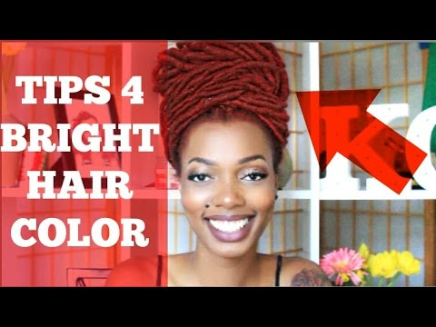 TIPS FOR BRIGHT COLORED HAIR | ACHIEVING AND MAINTAINING