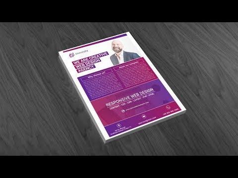 Illustrator Tutorial - Web Designer Flyer Template