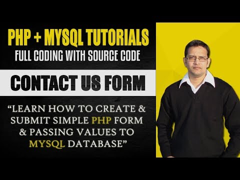 How to Build a Simple HTML PHP MySQL Contact Form - Full Coding Tutorial with Source Code 2018