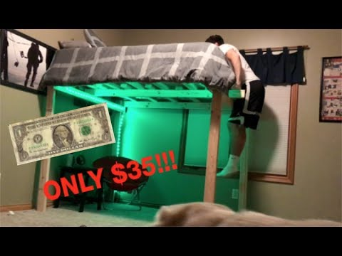 DIY LOFT BED!! (easy and cheap)