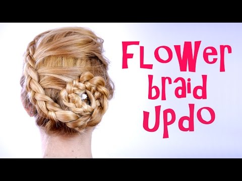 Braided Flower Updo Tutorial
