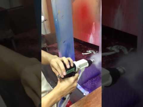 Debugging intelligent paint electrostatic spray gun.mp4