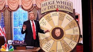 Trump Unveils Huge Wheel of Decisions