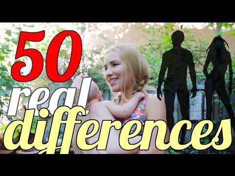 50 REAL Differences Between Men & Women