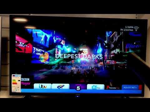 Sharp Aquos NET+ 2017 2018 SMART TV OS Freeview Play