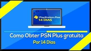Como pegar PS Plus grátis (14 Dias) 2017