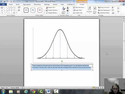 PSYC295 Creating a Bell Curve in Word