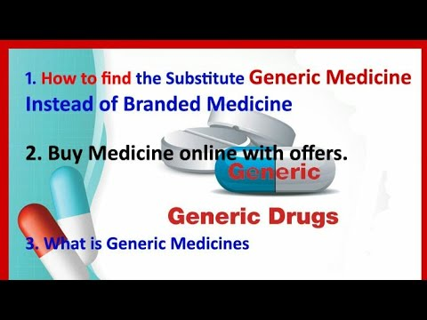 How to Search Generic medicines instead of branded medicines || buy medicines online with offers.