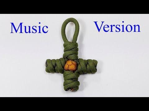 Double Connection Knot Parachute Cord Cross (Music Version)