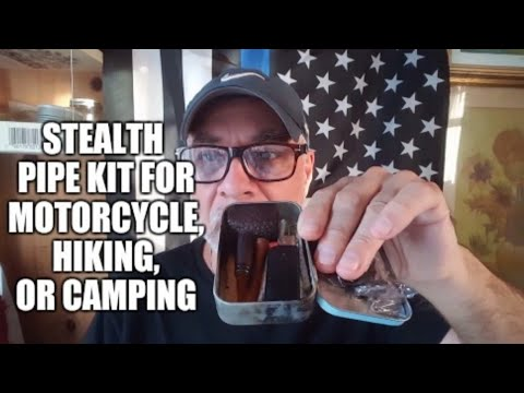 Stealth pipe kit for motorcycle, hiking, or gift