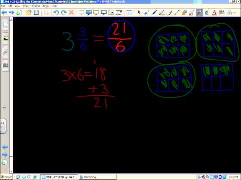Video Walkthrough: Converting Mixed Numbers Into Improper Fractions