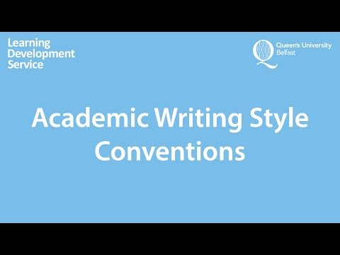 Academic Writing Style Workshop
