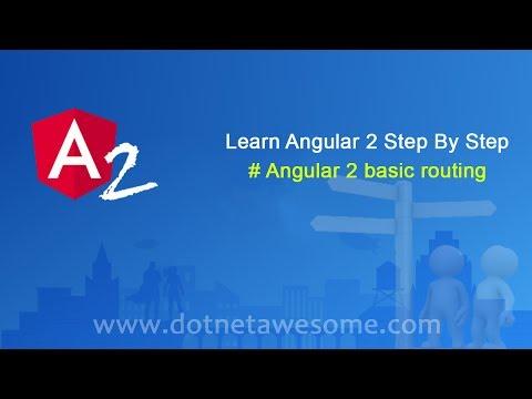 Basic Routing in Angular 2