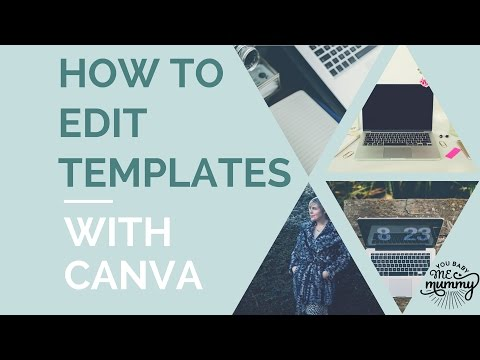 How to edit templates in Canva