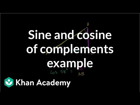 Sine and cosine of complements example | Basic trigonometry | Trigonometry | Khan Academy
