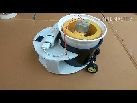 homemade vaccum cleaning robot || how to make robot vaccum cleaner || 2017