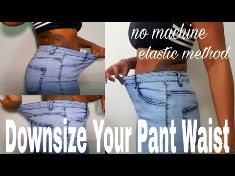 DIY: How to downsize Your Pant Waist(resize jeans using the elastic method)