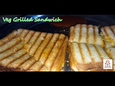 How To Make Grilled MILK - Veg Sandwich Without mayonnaise