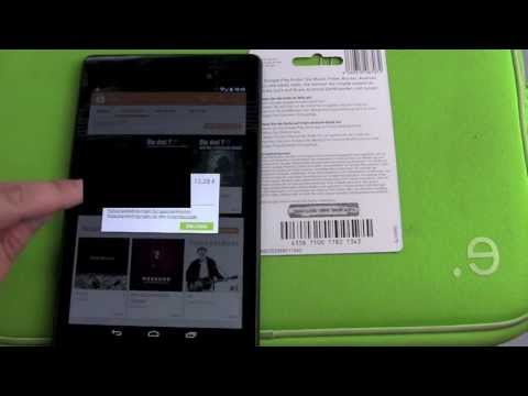 How to redeem a Google Play Store Card in the App