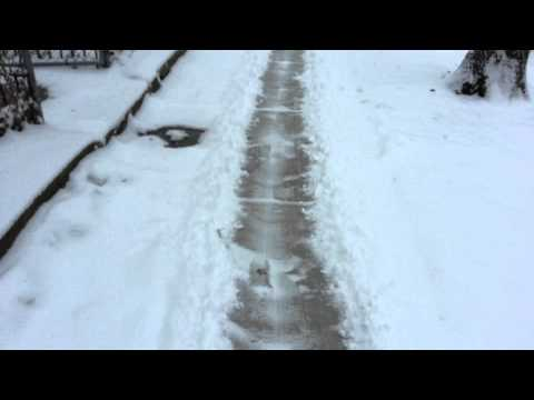 DIY Campaign Sign Sidewalk Snow Plow