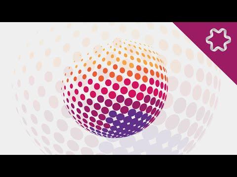 Illustrator Tutorial / Color Halftone Effect / 3D Revolve Map Artwork Surfaces / 3D Dots Logo Design