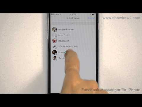 Facebook Messenger For iPhone - How To Invite A Friend
