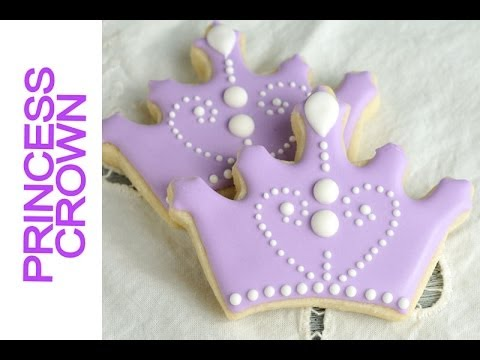 SOFIA THE FIRST CROWN COOKIES TUTORIAL,  PRINCESS CROWN
