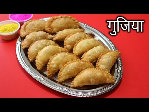 Gujiya in HINDI | Mawa Gujiya Recipe | How to Make Gujiya in Hindi | Nehas Cookhouse