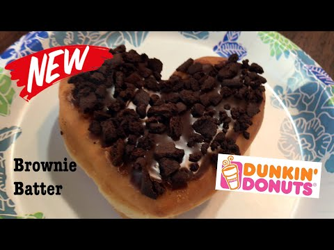 DUNKIN DONUTS BROWNIE BATTER VALENTINES DAY DONUT REVIEW