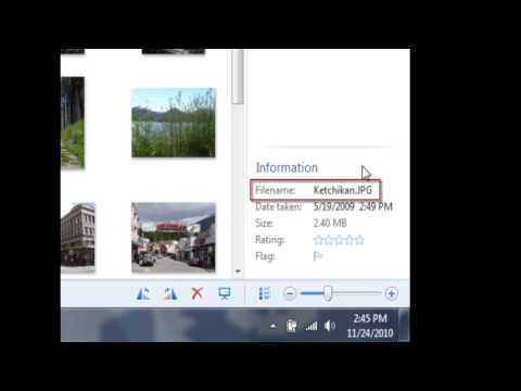 Changing a Photo's File Name with Photo Gallery