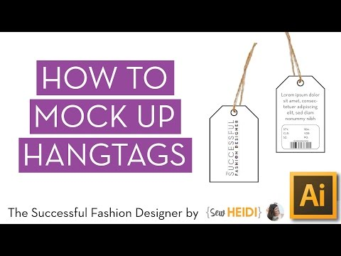 How to Make a Hangtag in Illustrator (and a little Photoshop)
