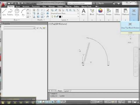 Creating door with AutoCAD dynamic block