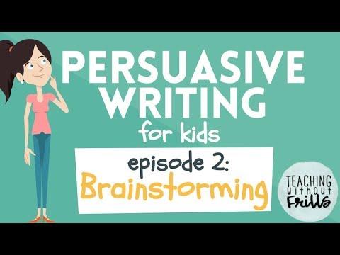Persuasive Writing for Kids: Brainstorming Topics