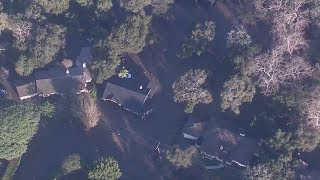 Aerial footage shows the devastation in Montecito after powerful storm