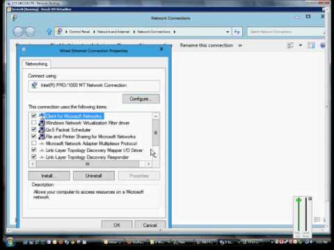 How to change the adapter settings in Microsoft Windows Server 2012